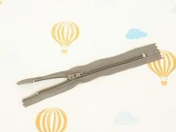 Fermeture éclair métallique argent - 15 cm