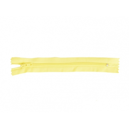 Thin zip (15 cm) - Yellow