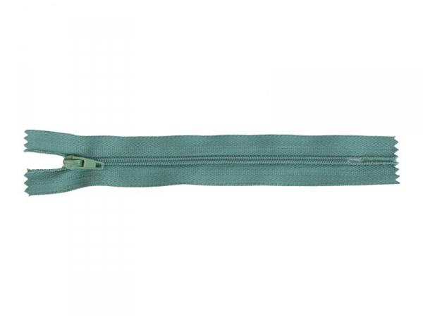 Fermeture éclair fine 15 cm - Bleu canard