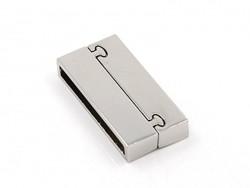 Rechteckiger Magnetverschluss (37 mm) - silberfarben