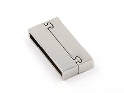 Rectangular magnetic clasp (37 mm) - silver-coloured