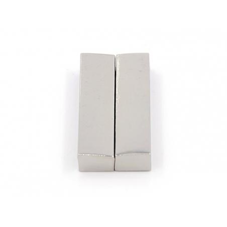 Fermoir aimanté rectangulaire 37 mm - couleur argenté