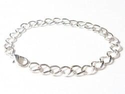 Bracelet pour breloques - couleur argent