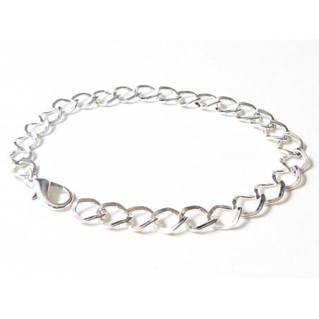 Acheter Bracelet pour breloques - couleur argent - 1,79€ en ligne sur La Petite Epicerie - Loisirs créatifs