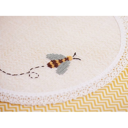 Stranded cotton skein (8 m) - White (colour no. 3865)