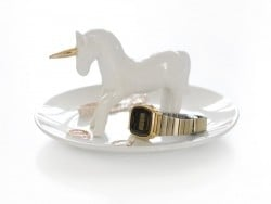 Jewellery bowl with a unicorn