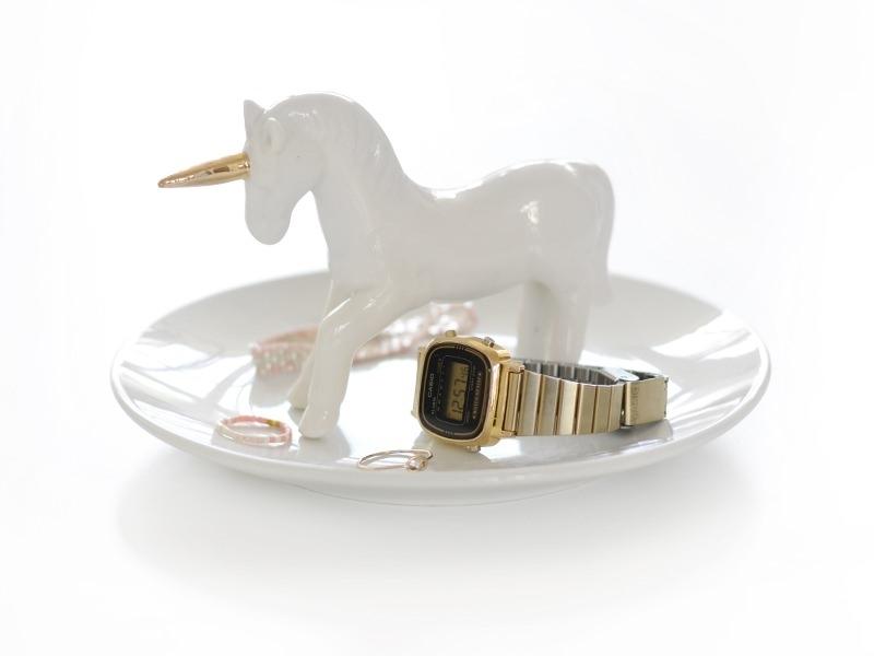 Jewellery bowl with a unicorn