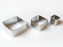 3 Ausstechformen - Quadrate