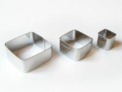 3 emporte-pièces CARRES