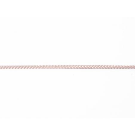 "Bobine 2m de ruban fantaisie ""cordelette"" 3 mm - rose 074"