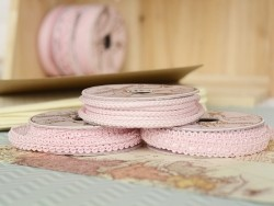 Rolle Zierband (2 m) - Posamentenborte (9 mm) - rosa (Farbnr. 074)