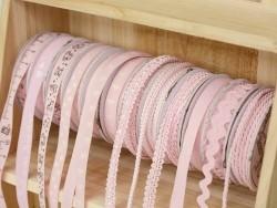 Woven Grosgrain ribbon spool (2 m) - Twill (10 mm) - pink (colour no. 074)