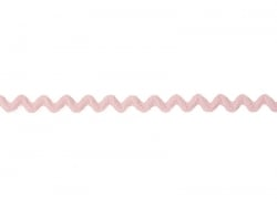 "Bobine 2m de ruban gros grain ""serpentine"" 10 mm - rose 074"