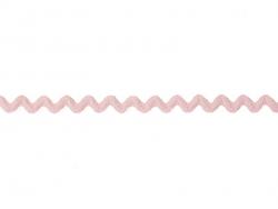 Grosgrain ribbon spool (2 m) - Rickrack (10 mm) - pink (colour no. 074)
