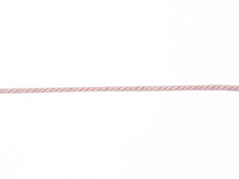 "Bobine 2m de ruban fantaisie ""cordon"" 3 mm - rose 074"