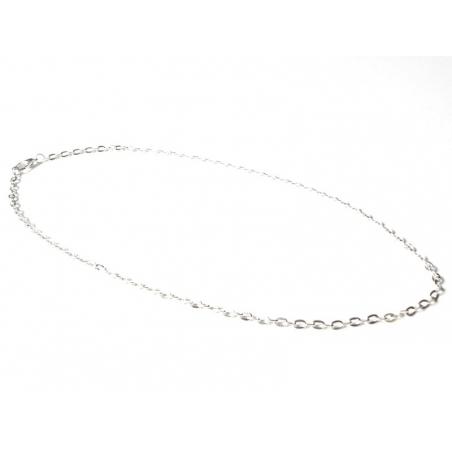Collier chaine forcat - couleur argent - 47 cm