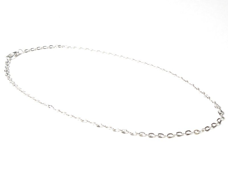 Cable chain necklace - silver-coloured - 47 cm