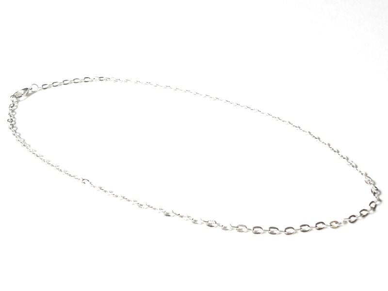 Collier chaine forcat - couleur argent - 47 cm  - 1