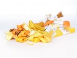 Stranded cotton skein (8 m) - Yellow (colour no. 3822)