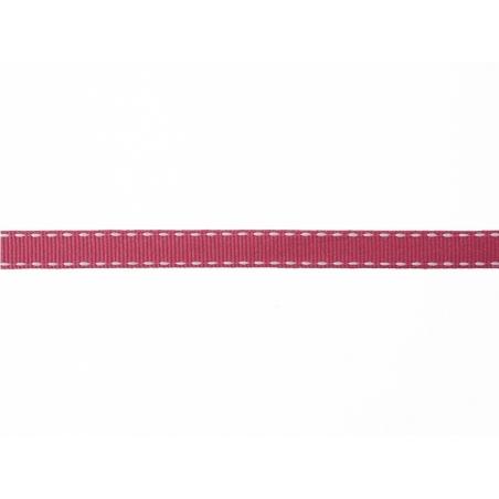 Woven Grosgrain ribbon spool (2 m) - dashes (10 mm) - fuchsia (colour no. 078)