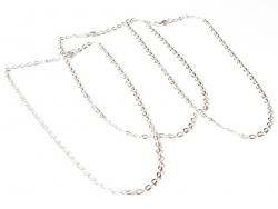 Collier chaine forcat - couleur argent - 41 cm