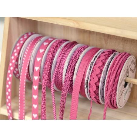 Decorative ribbon spool (2 m) - lace (9 mm) - fuchsia (colour no. 078)