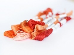 Stranded cotton skein (8 m) - Red (colour no. 817)