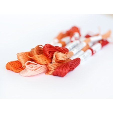 Echevette de coton mouliné de 8 m - Rouge 817