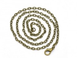 Bronze cable chain necklace - 40 cm