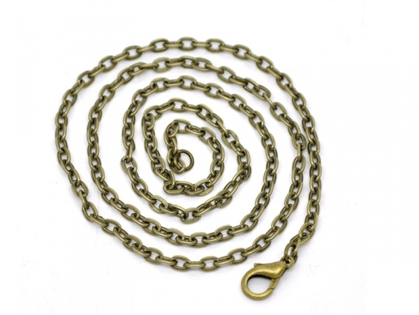 Collier chaine forcat bronze - 40 cm  - 1