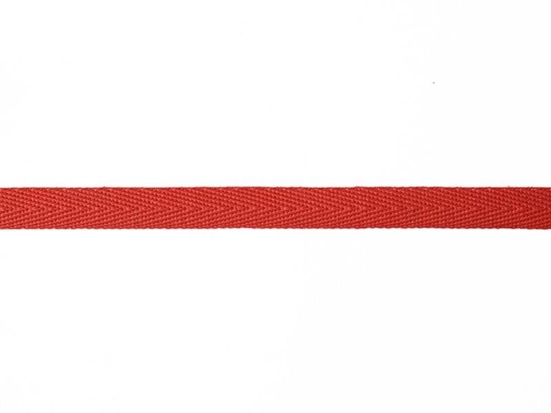 "Bobine 2m de ruban gros grain ""serge"" 10 mm - rouge 008"