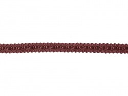 Decorative ribbon spool (2 m) - lace (9 mm) - burgundy (colour no. 071)