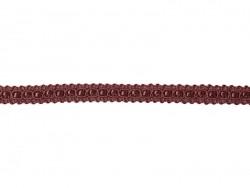 1m ruban gros grain écru ancres marines - 10 mm