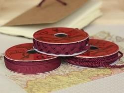 Woven Grosgrain ribbon spool (2 m) - Twill (10 mm) - burgundy (colour no. 071)