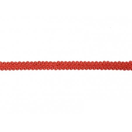 Decorative ribbon spool (2 m) - passament border (8 mm) - red (colour no. 008)