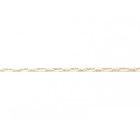 "Bobine 2m de ruban gros grain en lin ""chevron"" 4 mm - beige 245  - 1"