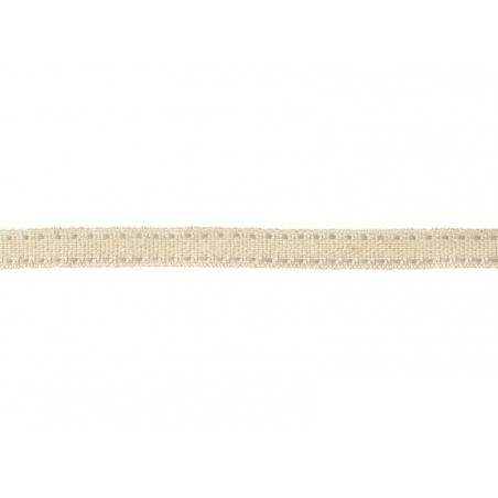 "Bobine 2m de ruban gros grain en lin tissé ""tirets"" 10 mm - gris 131"