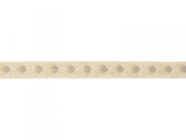 """Bobine 2m de ruban gros grain en lin tissé """"pois"""" 10 mm - gris 131"""