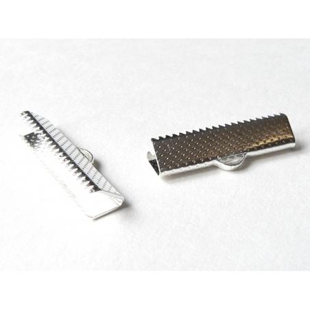 Acheter Fermoir griffe pour biais de tissu 25 mm - argenté foncé - 0,39€ en ligne sur La Petite Epicerie - 100% Loisirs créa...