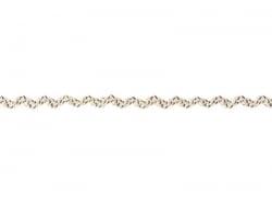 Grosgrain linen ribbon spool (2 m) - Rickrack (7 mm) - brown (colour no. 160)