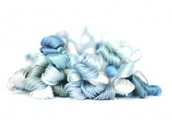 Stranded cotton skein (8 m) - blue (colour no. 3808)