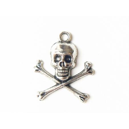 Acheter 1 Breloque tête de mort - couleur Argent - 0,99€ en ligne sur La Petite Epicerie - Loisirs créatifs