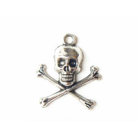 1 skull charm - silver-coloured
