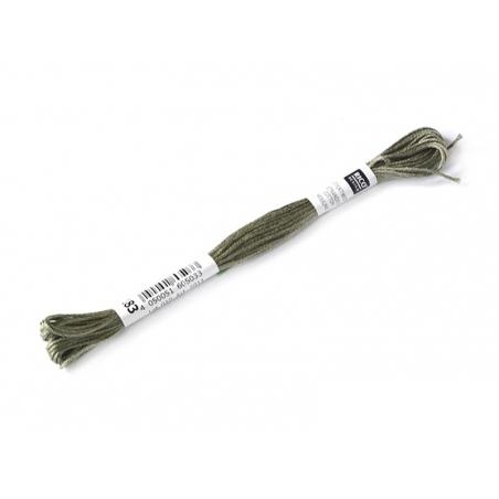 Echevette de coton mouliné de 8 m - Vert 646 Rico Design - 1