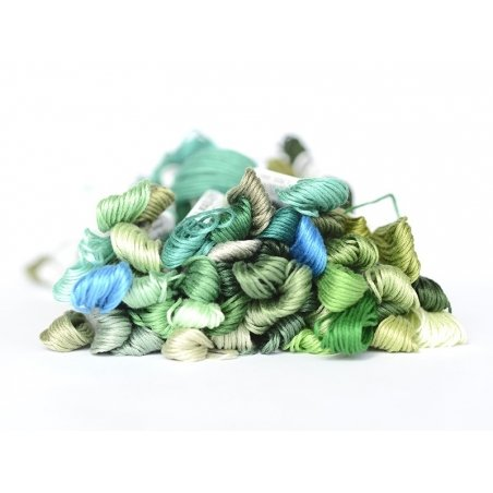 Acheter Echevette de coton mouliné de 8 m - Vert  - 1,39€ en ligne sur La Petite Epicerie - 100% Loisirs créatifs
