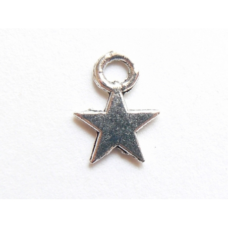 1 Breloque petite étoile - couleur argent  - 2