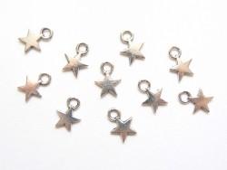 1 Breloque petite étoile - couleur argent  - 3