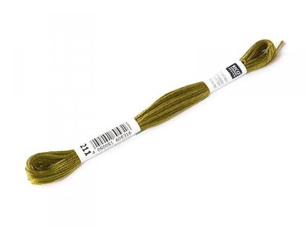 Echevette de coton mouliné de 8 m - Vert 732