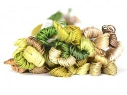 Stranded cotton skein (8 m) - Green (colour no. 3013)