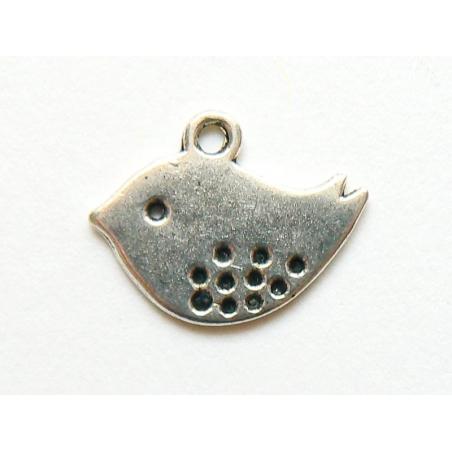 Acheter 1 Breloque oiseau - couleur argent foncé - 0,39€ en ligne sur La Petite Epicerie - Loisirs créatifs
